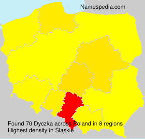 Surname Dyczka in Poland