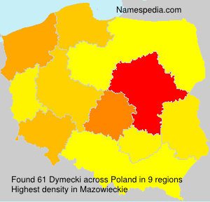 Surname Dymecki in Poland