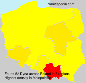 Surname Dyna in Poland