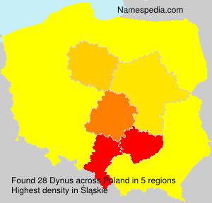 Familiennamen Dynus - Poland
