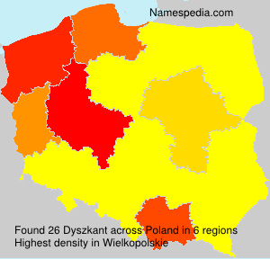 Surname Dyszkant in Poland
