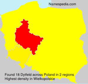 Surname Dytfeld in Poland