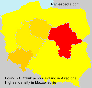 Surname Dzbuk in Poland