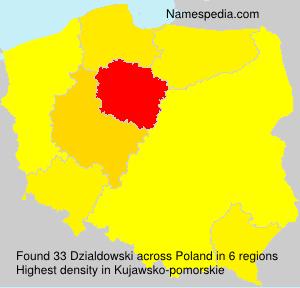 Surname Dzialdowski in Poland