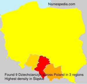 Surname Dziechciarczyk in Poland