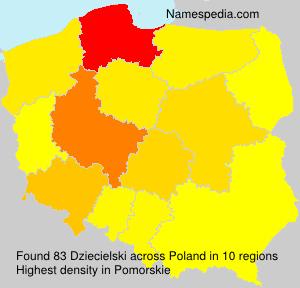 Surname Dziecielski in Poland
