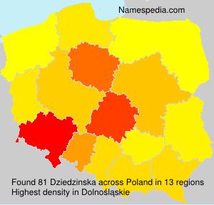 Surname Dziedzinska in Poland