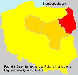 Surname Dziemianiuk in Poland