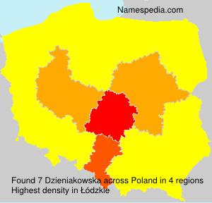 Surname Dzieniakowska in Poland