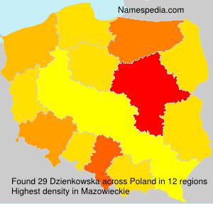 Surname Dzienkowska in Poland