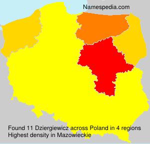 Surname Dziergiewicz in Poland