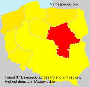 Surname Dzierzecki in Poland