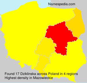 Surname Dziklinska in Poland