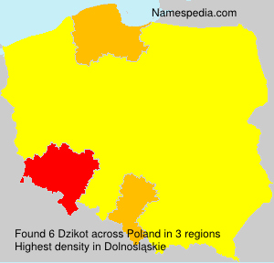 Surname Dzikot in Poland