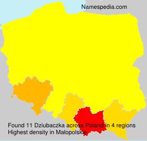 Familiennamen Dziubaczka - Poland