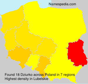 Surname Dziurko in Poland