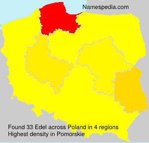 Surname Edel in Poland