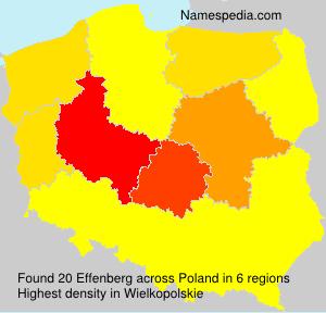 Surname Effenberg in Poland