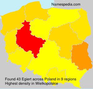 Surname Egiert in Poland