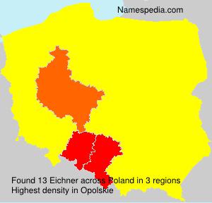 Surname Eichner in Poland