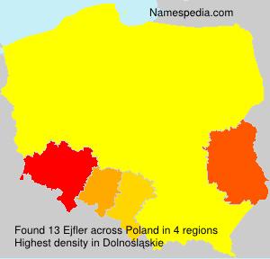 Familiennamen Ejfler - Poland