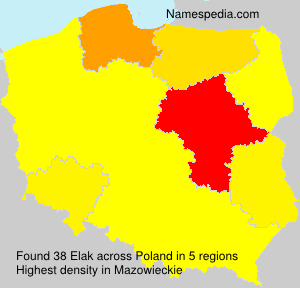 Surname Elak in Poland