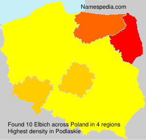 Surname Elbich in Poland
