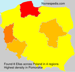 Surname Ellas in Poland