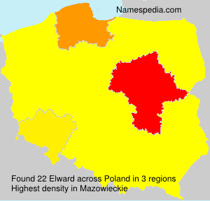 Surname Elward in Poland
