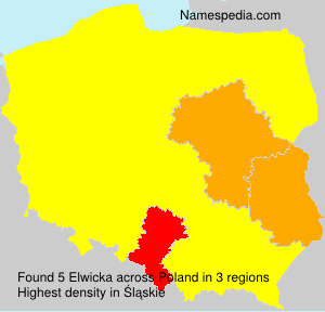 Surname Elwicka in Poland