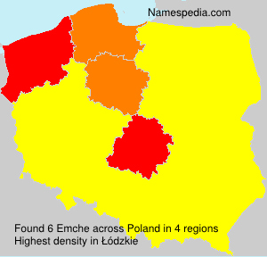 Surname Emche in Poland
