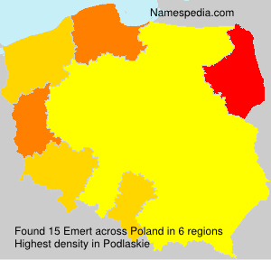 Surname Emert in Poland