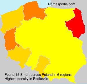 Surname Emert in Poland
