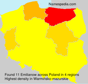Surname Emilianow in Poland