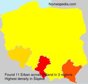 Surname Erban in Poland