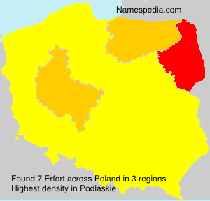 Surname Erfort in Poland