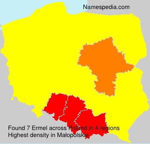 Surname Ermel in Poland