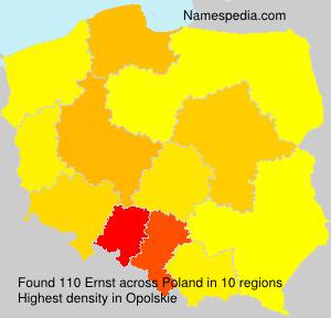 Familiennamen Ernst - Poland