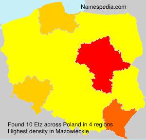 Surname Etz in Poland