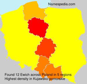 Surname Ewich in Poland