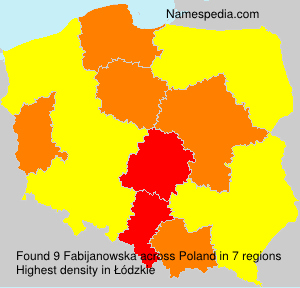 Surname Fabijanowska in Poland