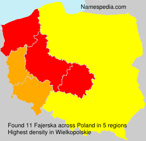 Familiennamen Fajerska - Poland