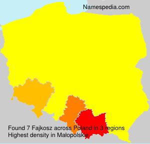Surname Fajkosz in Poland