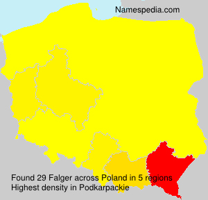 Surname Falger in Poland