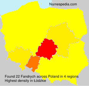 Surname Fandrych in Poland