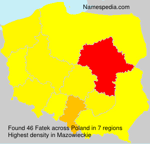 Surname Fatek in Poland