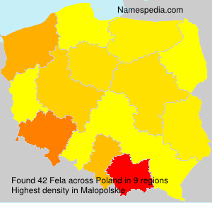 Surname Fela in Poland