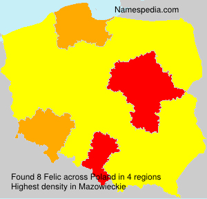 Surname Felic in Poland