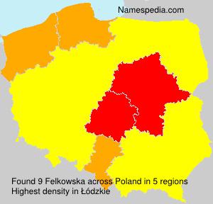 Surname Felkowska in Poland