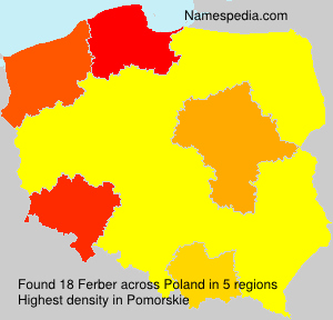 Surname Ferber in Poland